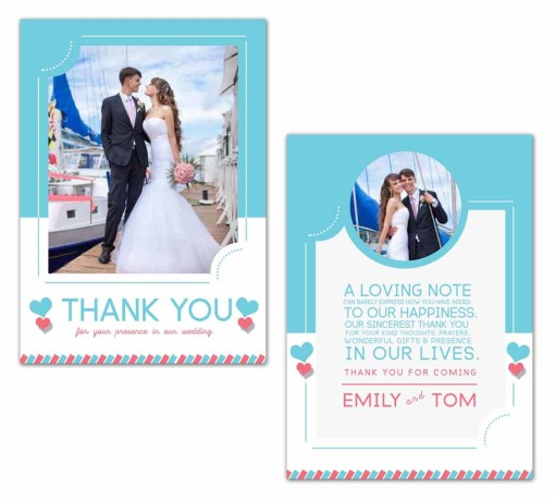 sky wedding thank you card photoshop templates for photographers. Black Bedroom Furniture Sets. Home Design Ideas