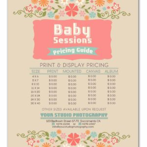 pricing sheets archives photoshop templates for photographers